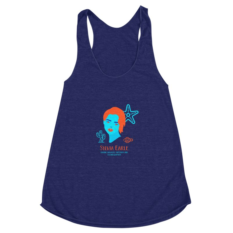 Sylvia Earle Women's Racerback Triblend Tank by Jana Artist Shop