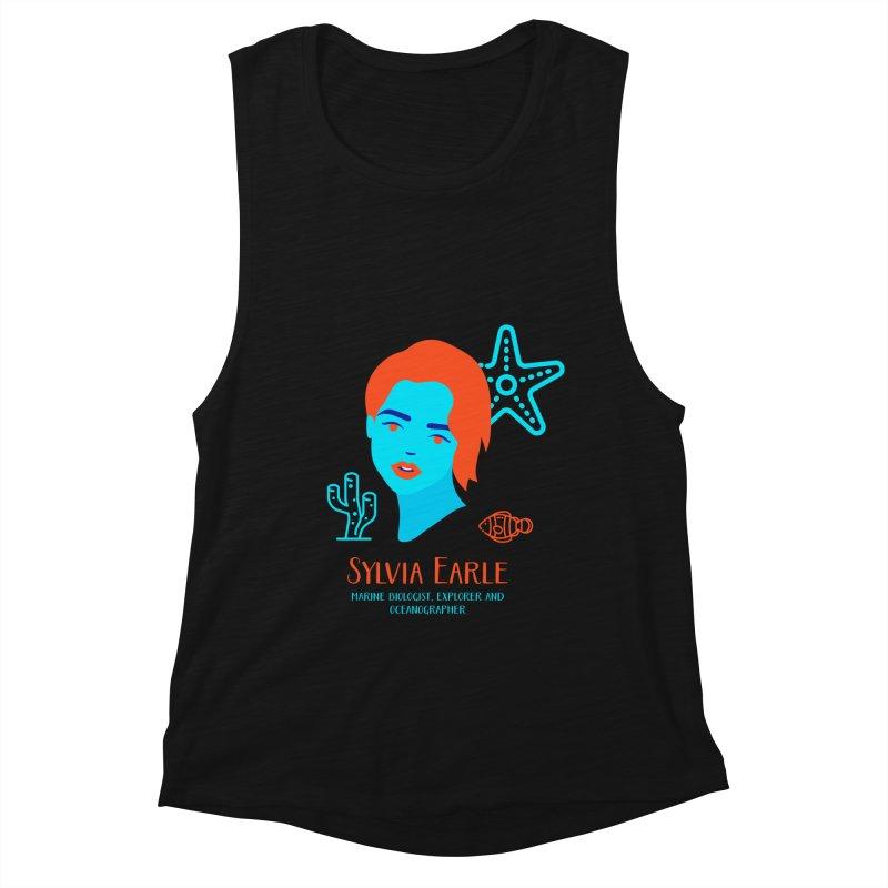 Sylvia Earle Women's Muscle Tank by Jana Artist Shop