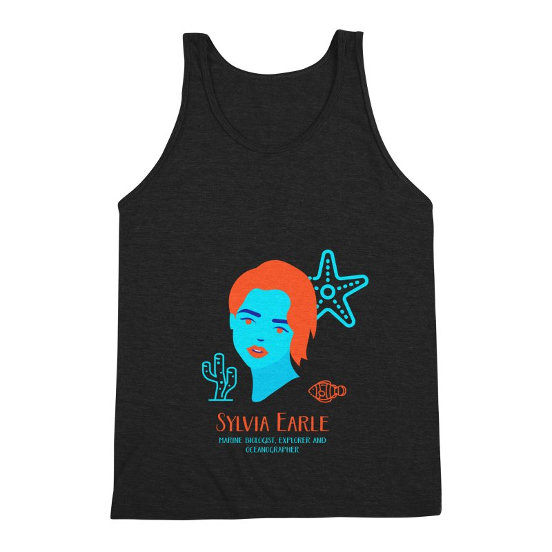 Sylvia Earle Men's Triblend Tank by Jana Artist Shop
