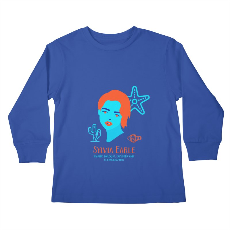 Sylvia Earle Kids Longsleeve T-Shirt by Jana Artist Shop