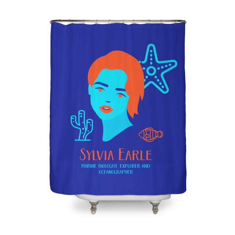 Sylvia Earle Home Shower Curtain by Jana Artist Shop