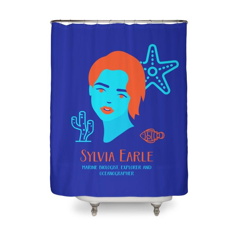 Sylvia Earle Home Shower Curtain by Jana Artist Shop