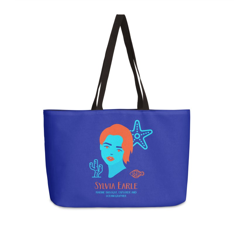 Sylvia Earle Accessories Weekender Bag Bag by Jana Artist Shop