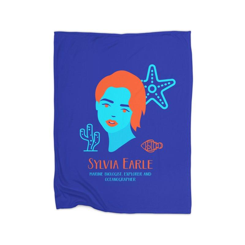 Sylvia Earle Home Blanket by Jana Artist Shop