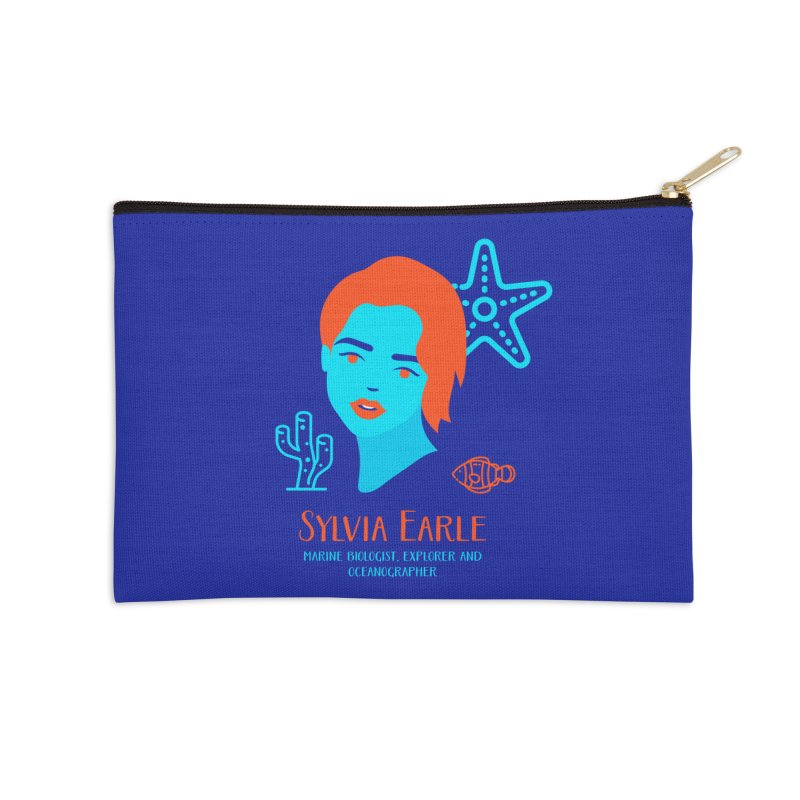 Sylvia Earle Accessories Zip Pouch by Jana Artist Shop