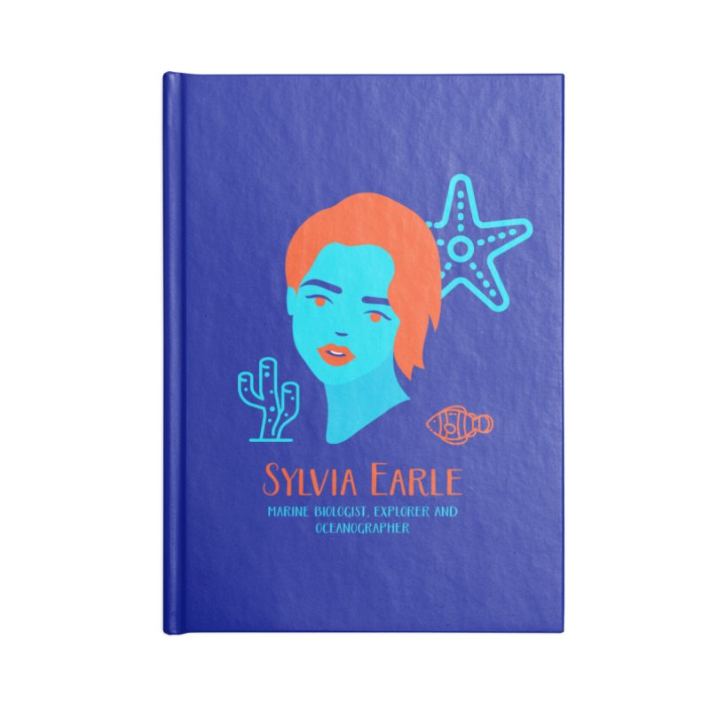 Sylvia Earle Accessories Lined Journal Notebook by Jana Artist Shop
