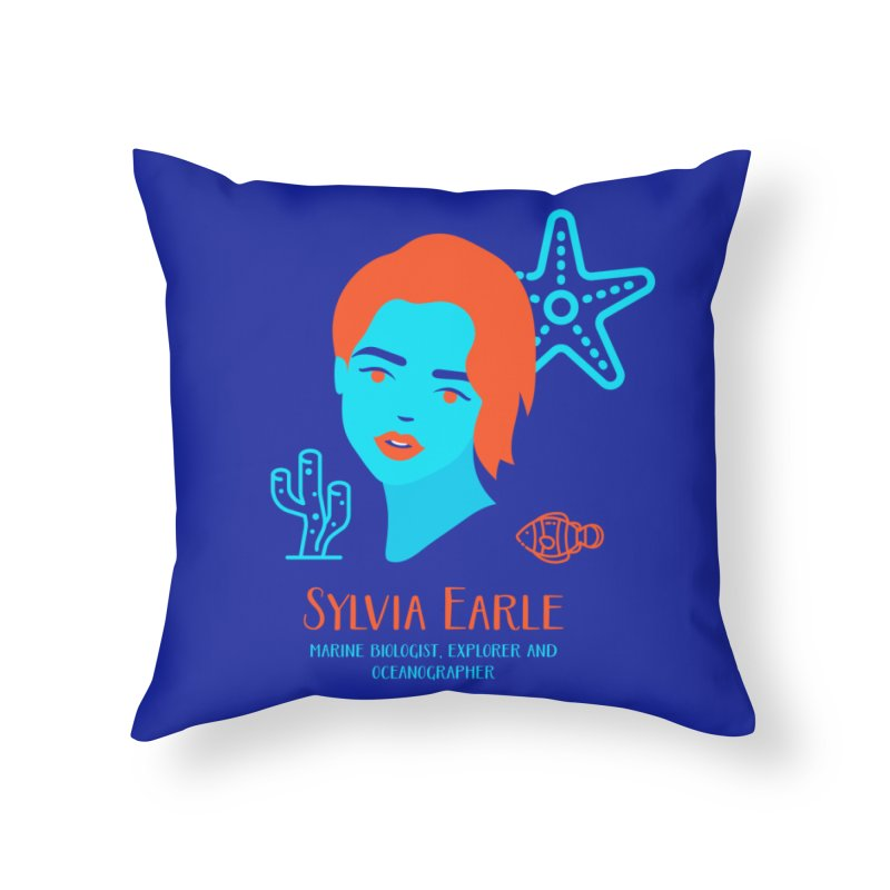 Sylvia Earle Home Throw Pillow by Jana Artist Shop