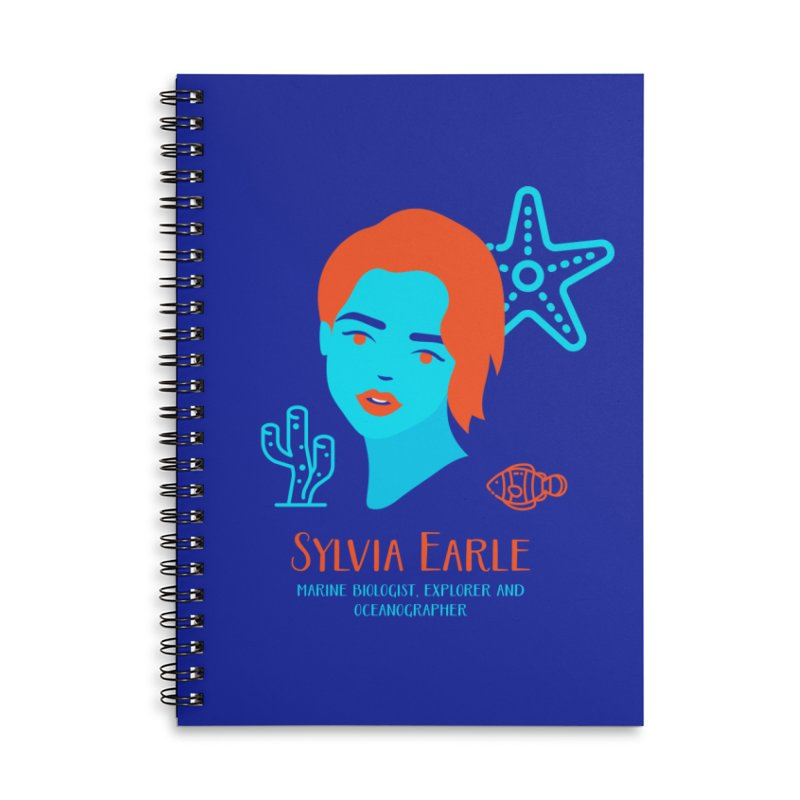 Sylvia Earle Accessories Lined Spiral Notebook by Jana Artist Shop