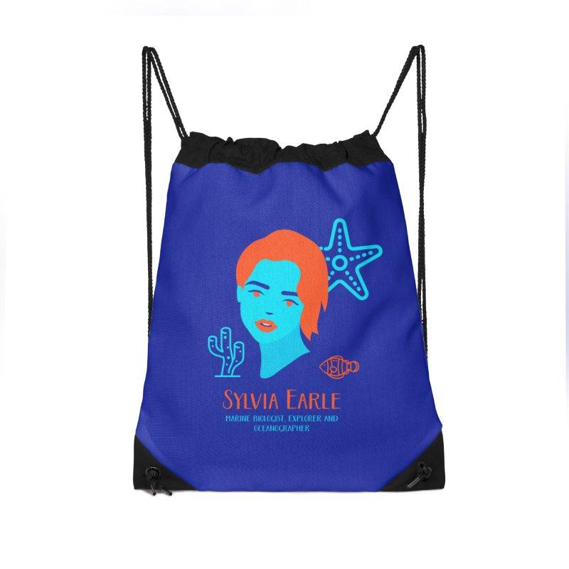 Sylvia Earle Accessories Drawstring Bag Bag by Jana Artist Shop