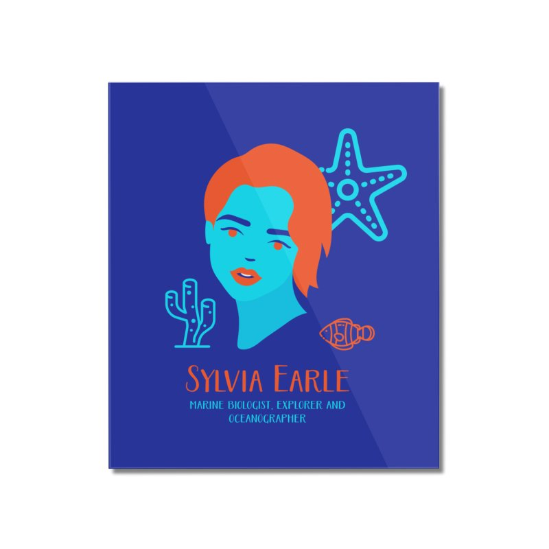 Sylvia Earle Home Mounted Acrylic Print by Jana Artist Shop