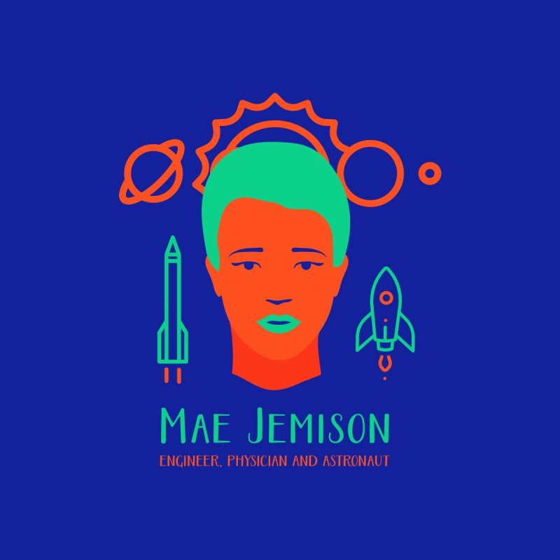 Mae Jemison Men's T-Shirt by Jana Artist Shop