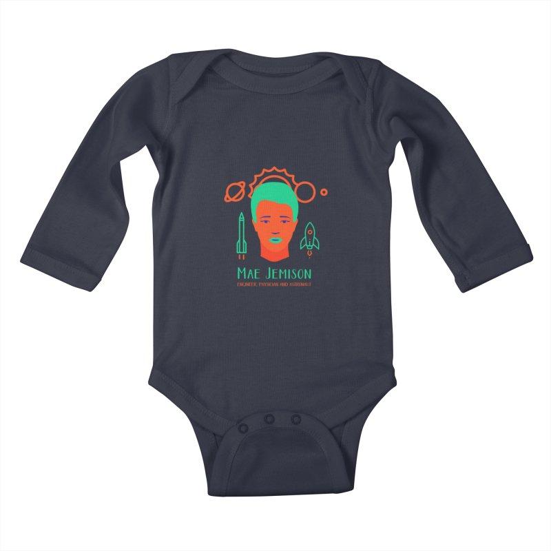 Mae Jemison Kids Baby Longsleeve Bodysuit by Jana Artist Shop