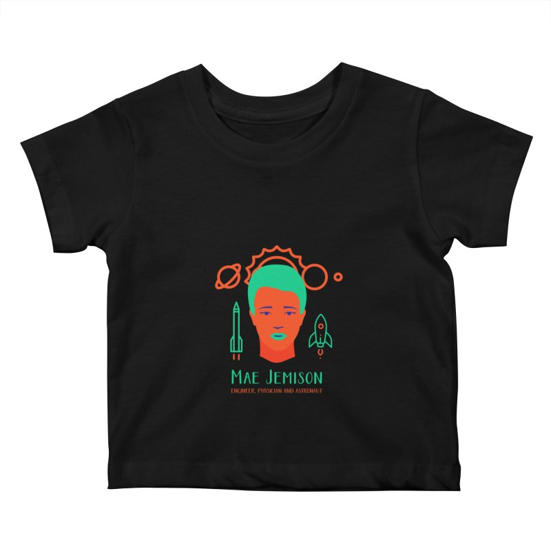 Mae Jemison Kids Baby T-Shirt by Jana Artist Shop