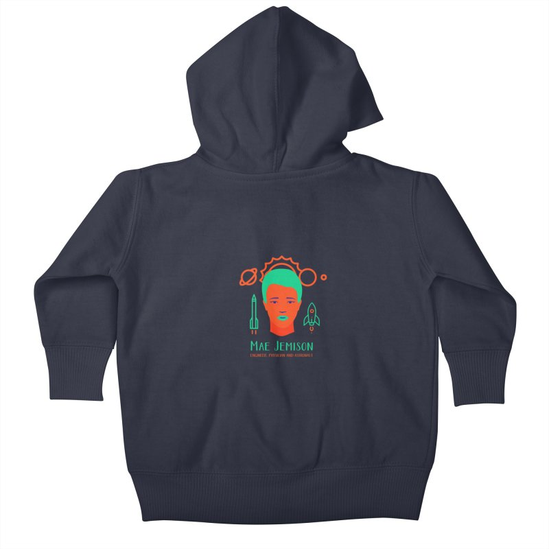 Mae Jemison Kids Baby Zip-Up Hoody by Jana Artist Shop
