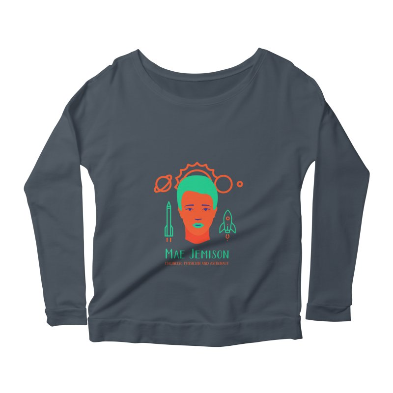 Mae Jemison Women's Scoop Neck Longsleeve T-Shirt by Jana Artist Shop