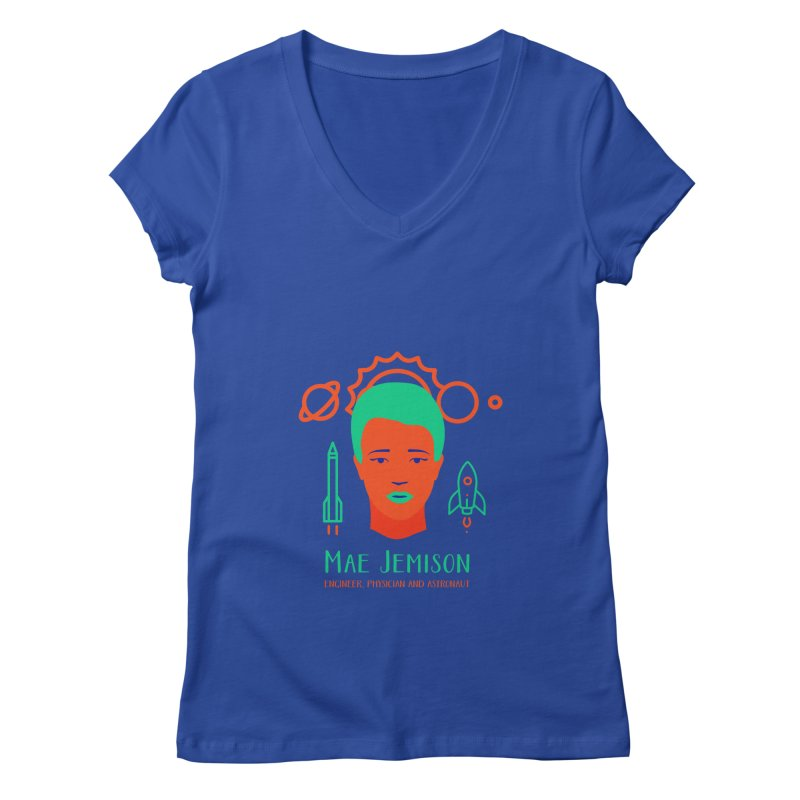 Mae Jemison Women's Regular V-Neck by Jana Artist Shop