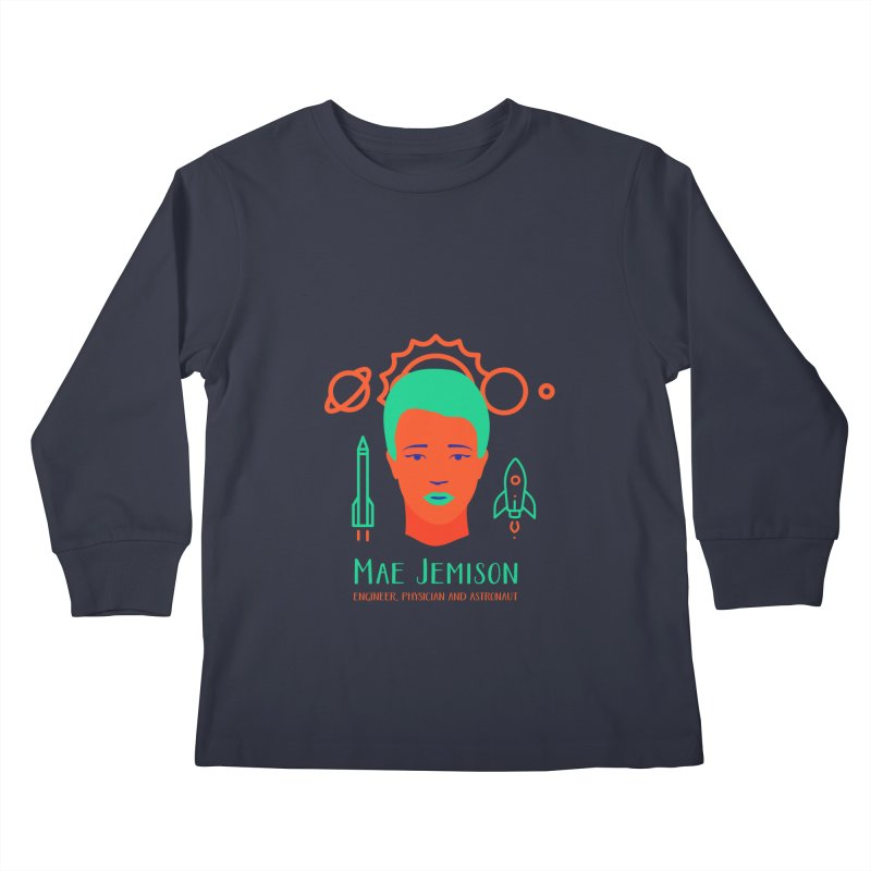 Mae Jemison Kids Longsleeve T-Shirt by Jana Artist Shop