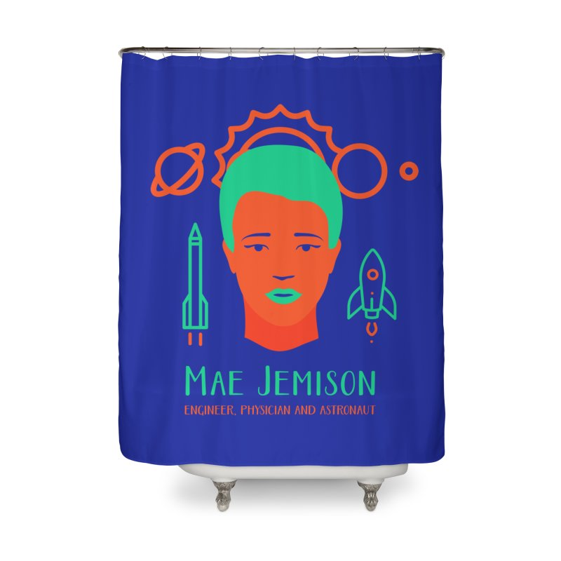 Mae Jemison Home Shower Curtain by Jana Artist Shop