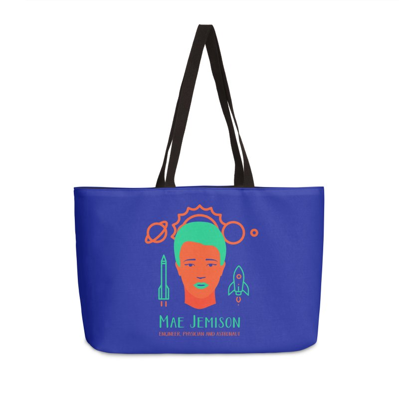 Mae Jemison Accessories Weekender Bag Bag by Jana Artist Shop