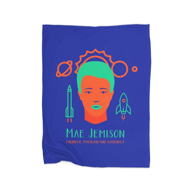 Mae Jemison Home Blanket by Jana Artist Shop