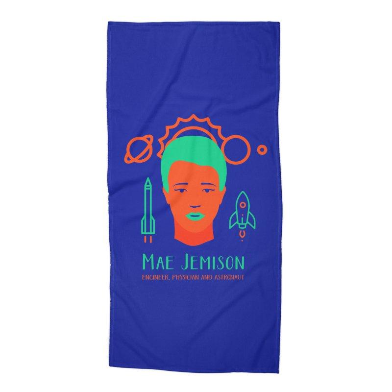 Mae Jemison Accessories Beach Towel by Jana Artist Shop