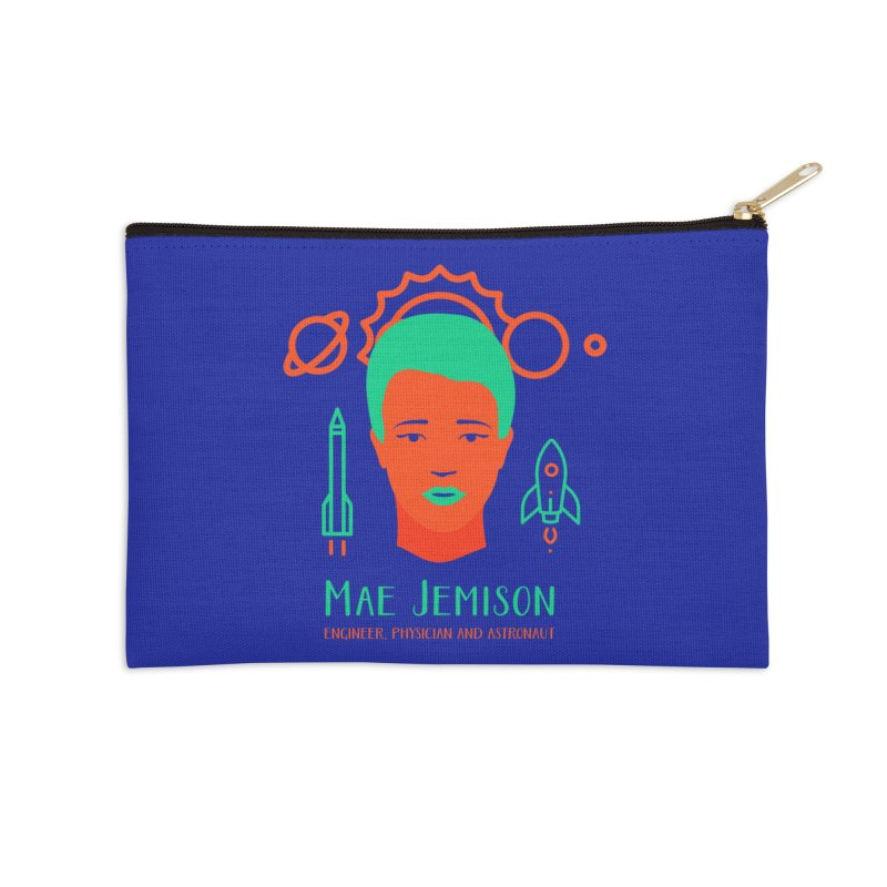 Mae Jemison Accessories Zip Pouch by Jana Artist Shop