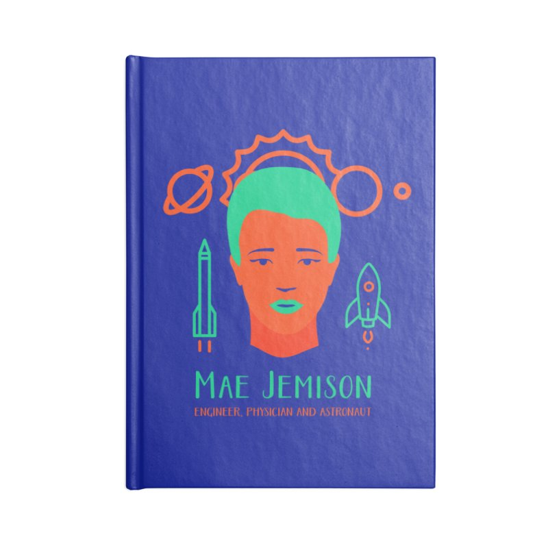 Mae Jemison Accessories Lined Journal Notebook by Jana Artist Shop