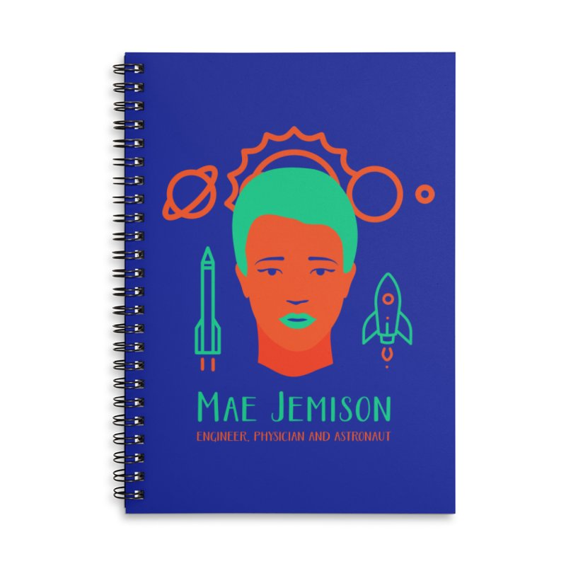 Mae Jemison Accessories Lined Spiral Notebook by Jana Artist Shop