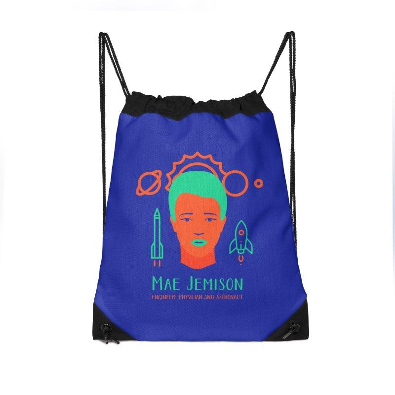 Mae Jemison Accessories Drawstring Bag Bag by Jana Artist Shop
