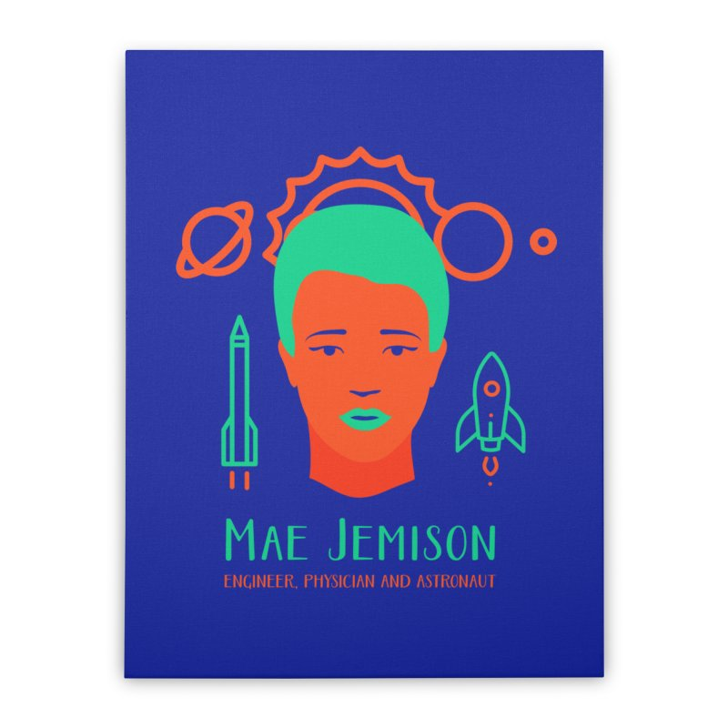 Mae Jemison Home Stretched Canvas by Jana Artist Shop