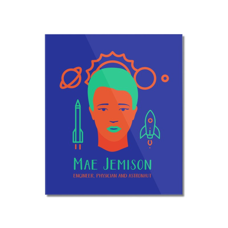 Mae Jemison Home Mounted Acrylic Print by Jana Artist Shop