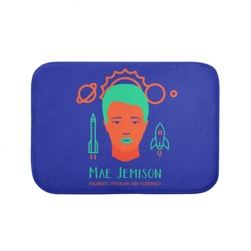 Mae Jemison Home Bath Mat by Jana Artist Shop