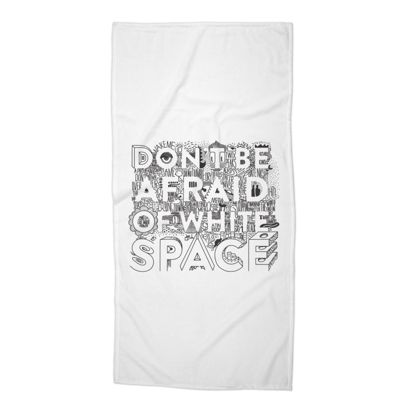 Don't be Afraid of White Space Accessories Beach Towel by Jana Artist Shop