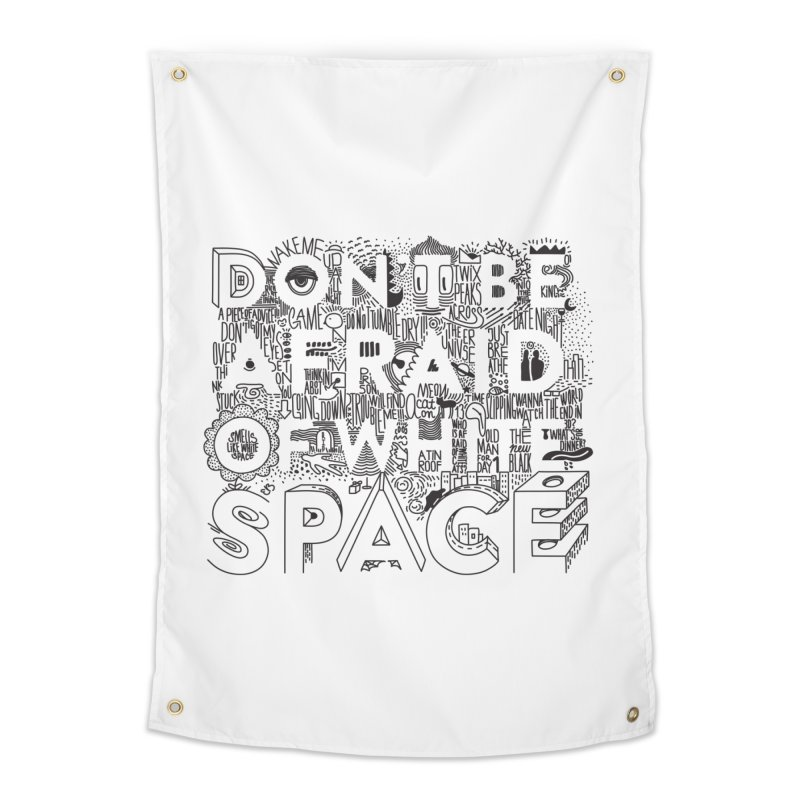 Don't be Afraid of White Space Home Tapestry by Jana Artist Shop