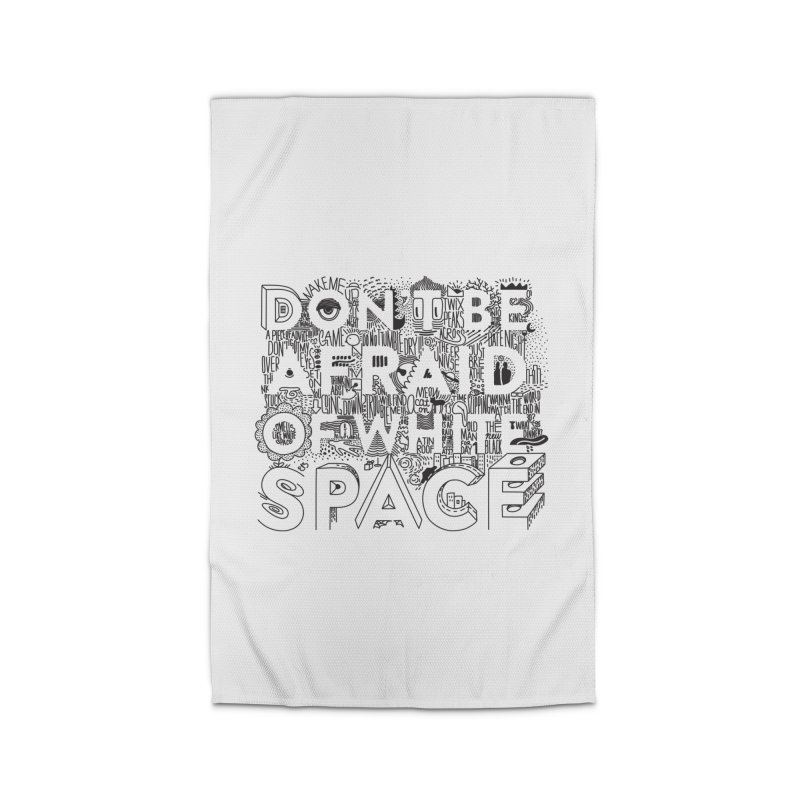 Don't be Afraid of White Space Home Rug by Jana Artist Shop