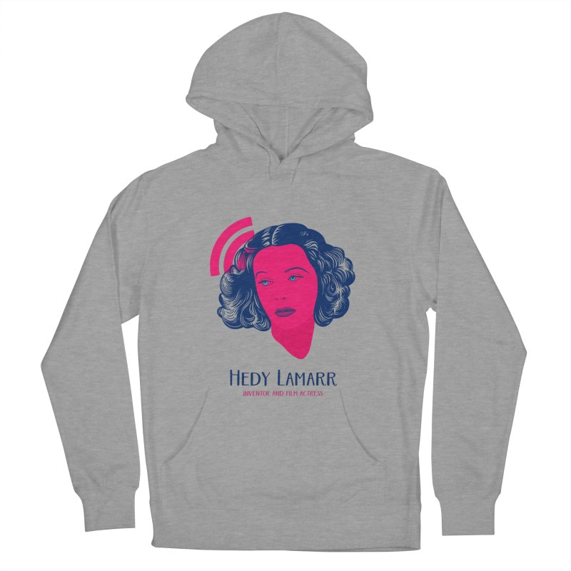 Hedy Lamarr Men's French Terry Pullover Hoody by Jana Artist Shop