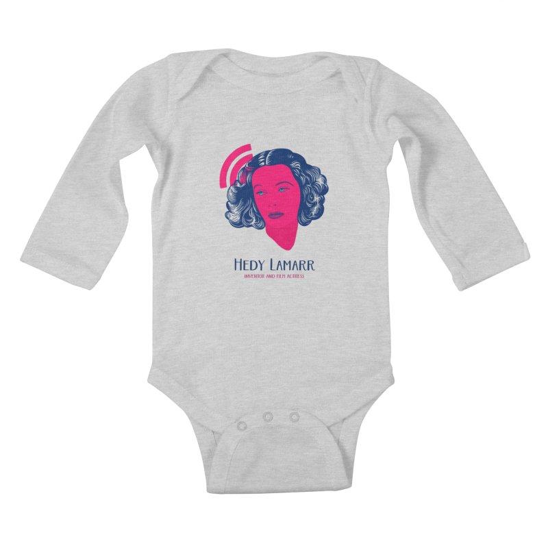 Hedy Lamarr Kids Baby Longsleeve Bodysuit by Jana Artist Shop