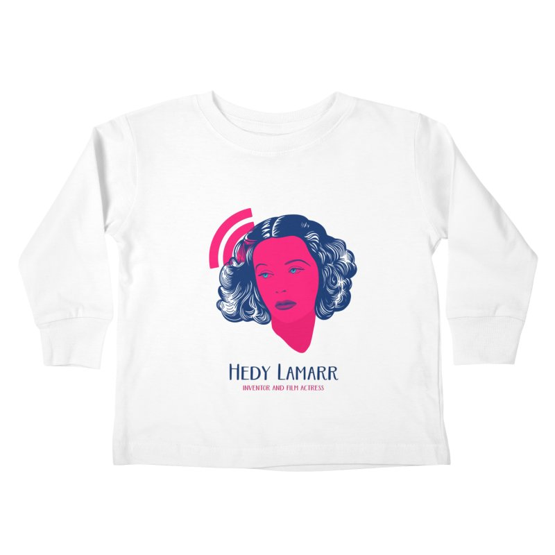 Hedy Lamarr Kids Toddler Longsleeve T-Shirt by Jana Artist Shop