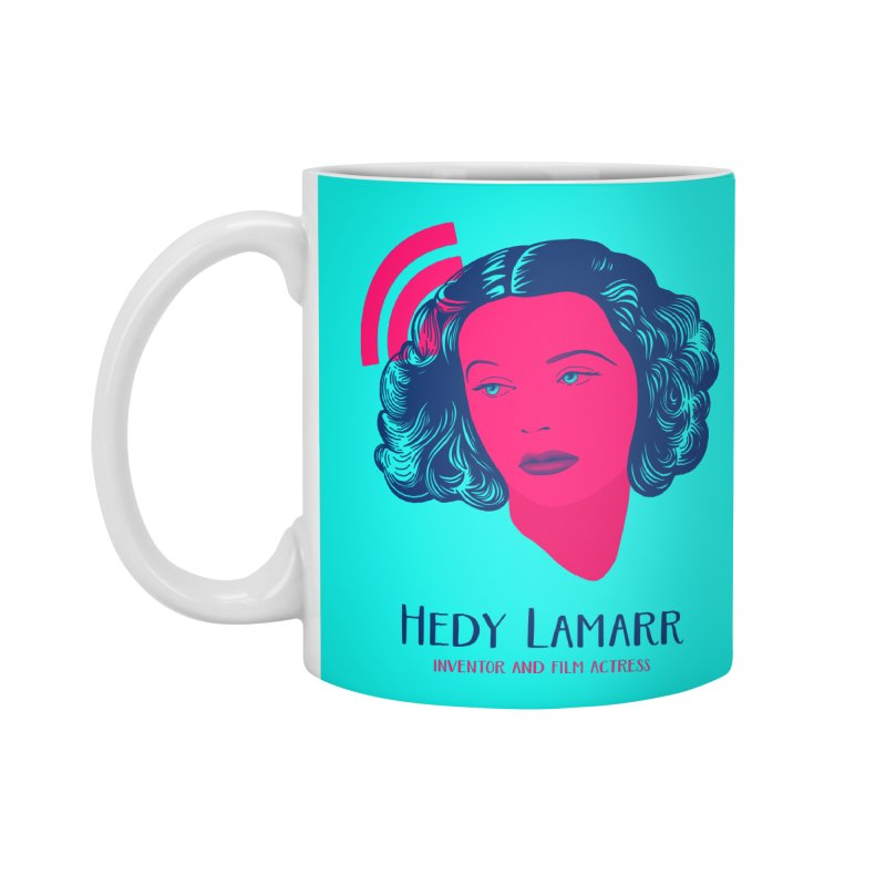 Hedy Lamarr Accessories Standard Mug by Jana Artist Shop