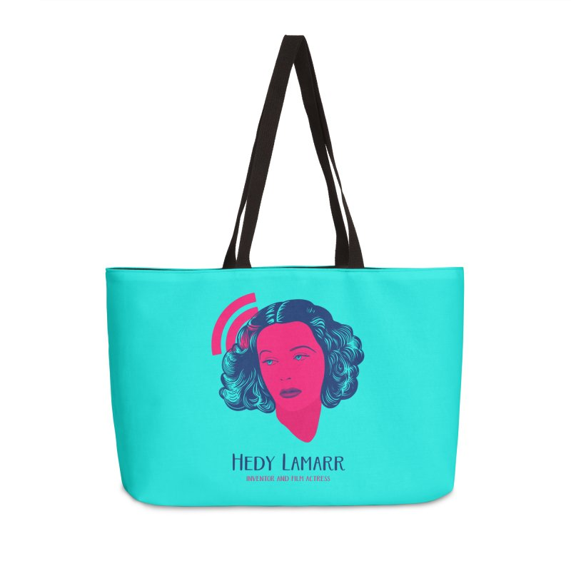 Hedy Lamarr Accessories Weekender Bag Bag by Jana Artist Shop