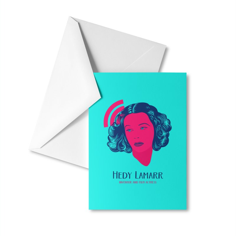 Hedy Lamarr Accessories Greeting Card by Jana Artist Shop