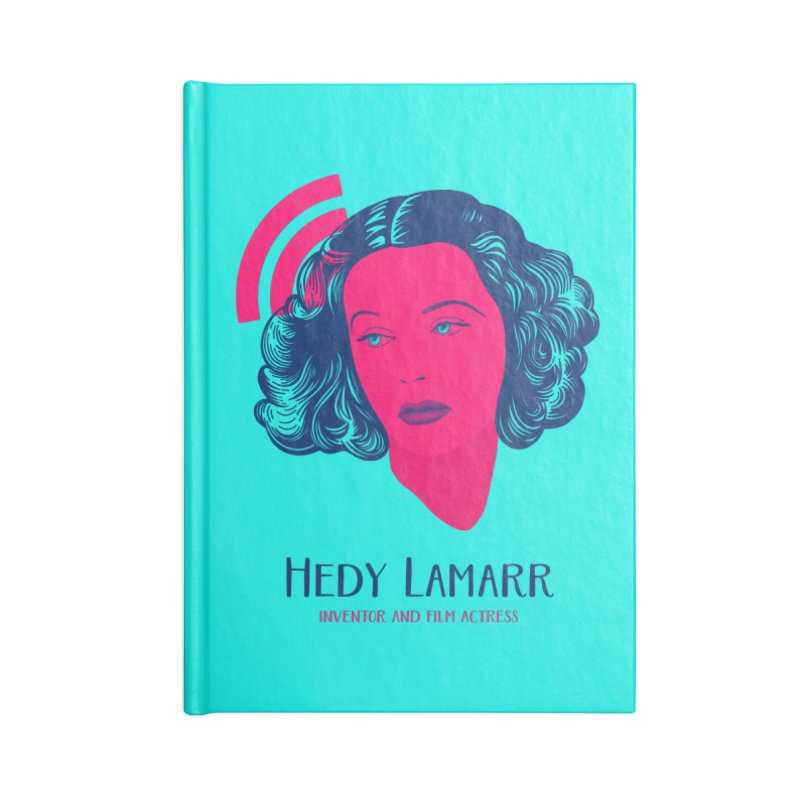 Hedy Lamarr Accessories Lined Journal Notebook by Jana Artist Shop