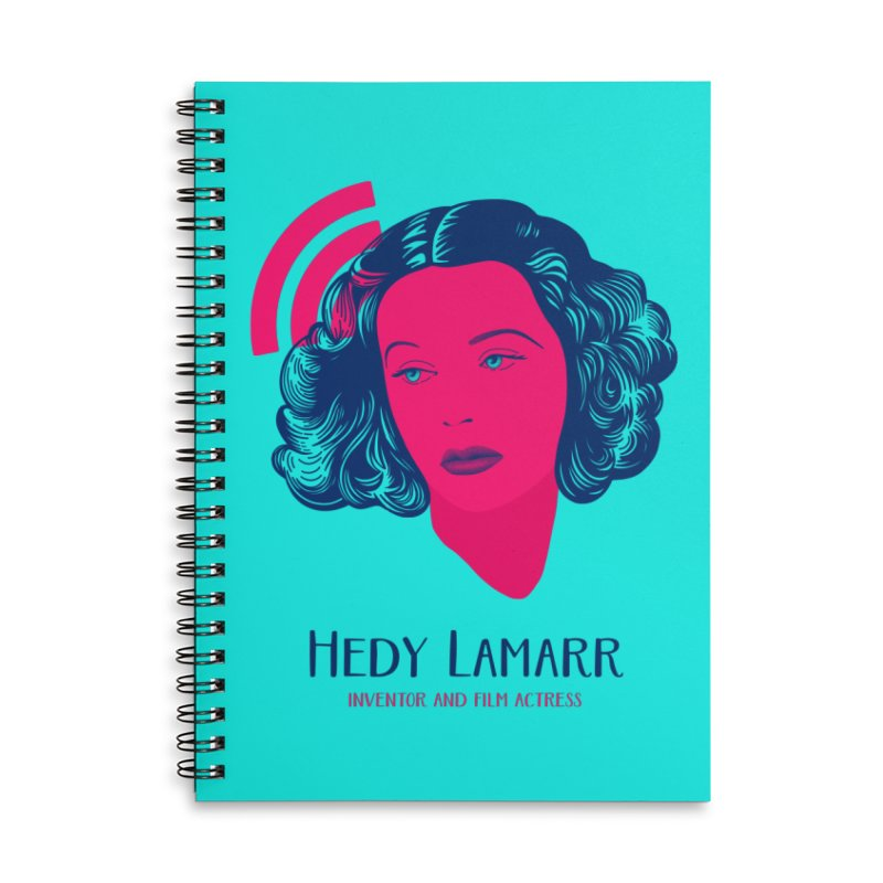 Hedy Lamarr Accessories Lined Spiral Notebook by Jana Artist Shop