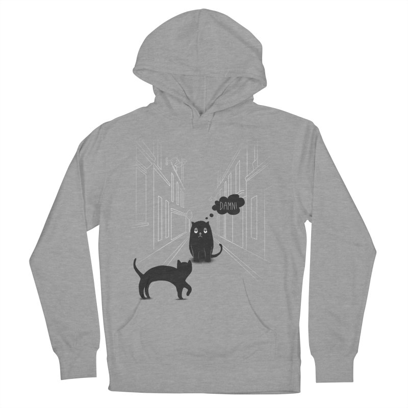 The Superstitious Cat Men's Pullover Hoody by Jana Artist Shop