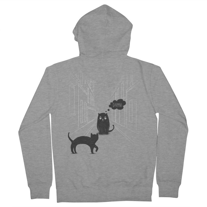 The Superstitious Cat Men's Zip-Up Hoody by Jana Artist Shop