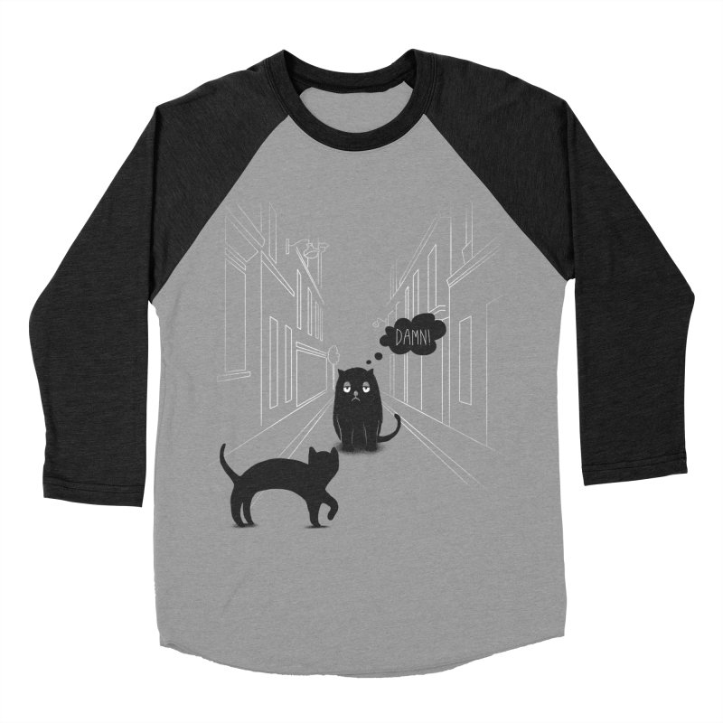 The Superstitious Cat Men's Baseball Triblend T-Shirt by Jana Artist Shop