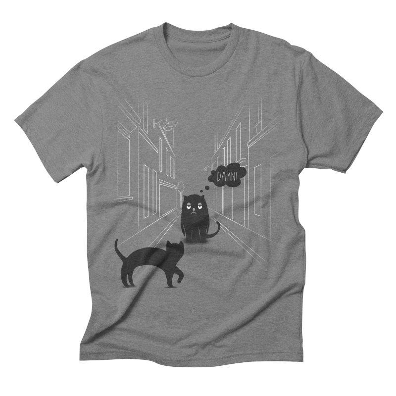The Superstitious Cat Men's Triblend T-shirt by Jana Artist Shop