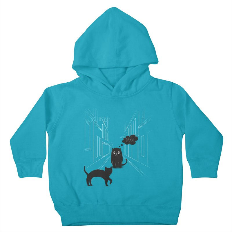 The Superstitious Cat Kids Toddler Pullover Hoody by Jana Artist Shop