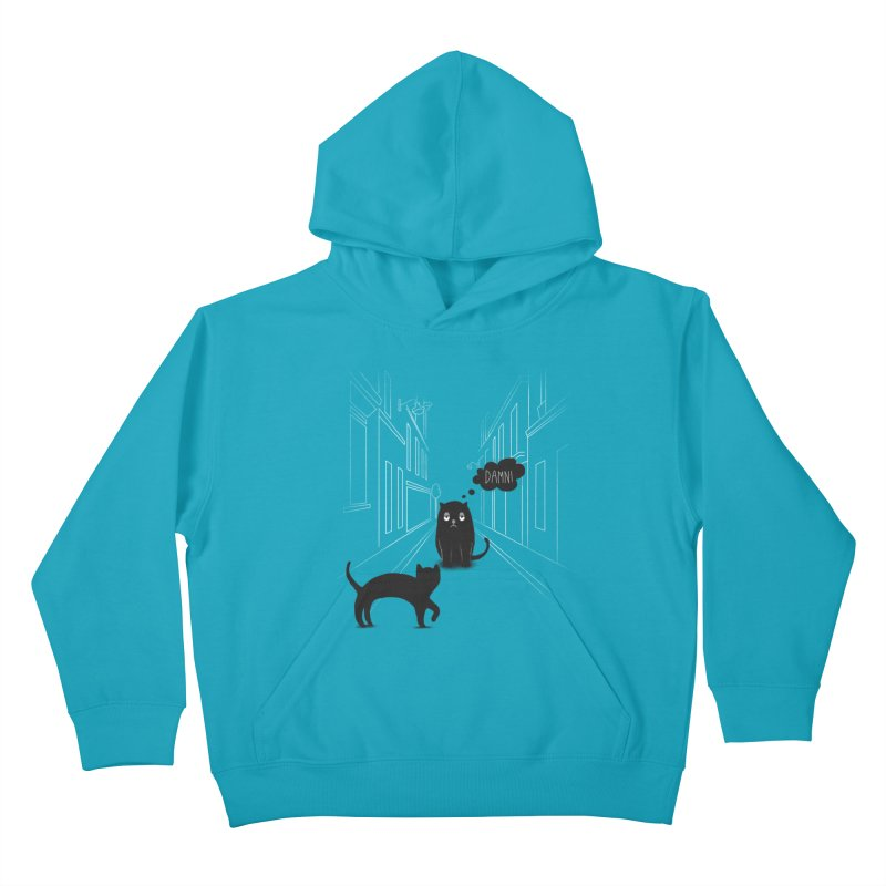 The Superstitious Cat Kids Pullover Hoody by Jana Artist Shop