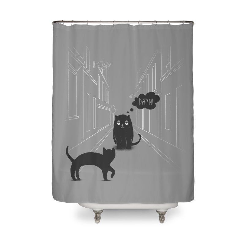 The Superstitious Cat Home Shower Curtain by Jana Artist Shop